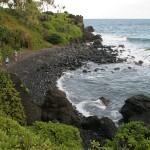 Road to Hana - Black Sand Beach